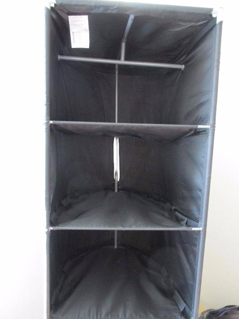 Ikea Ps Wardrobe Tidy, Black And Solid Wooden Table | In Swindon within Double Black Covered Tidy Rail Wardrobes (Image 17 of 30)