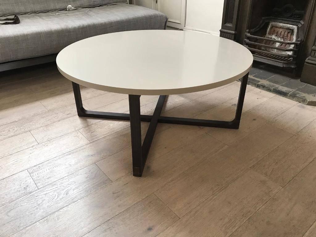 Ikea Rissna Round Coffee Table In Beige | In Islington, London In Beige Coffee Tables (View 11 of 30)