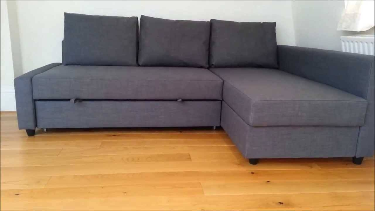 Ikea Sofa Bed - Youtube throughout Manstad Sofa Bed With Storage From Ikea (Image 8 of 25)