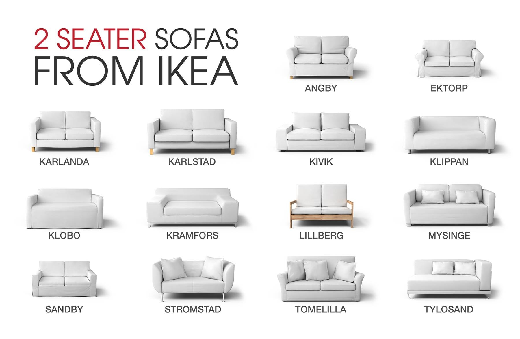 Ikea Sofa Covers For Discontinued Ikea Couch Models intended for Ikea Two Seater Sofas (Image 11 of 30)