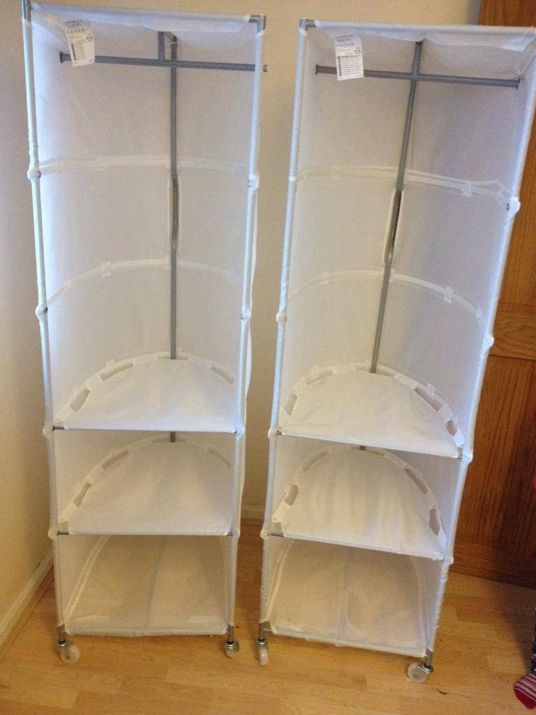Ikea Swivel Canvas Wardrobes With Shelves £7 Each | In Llanrumney with Wardrobes With Shelves (Image 18 of 30)