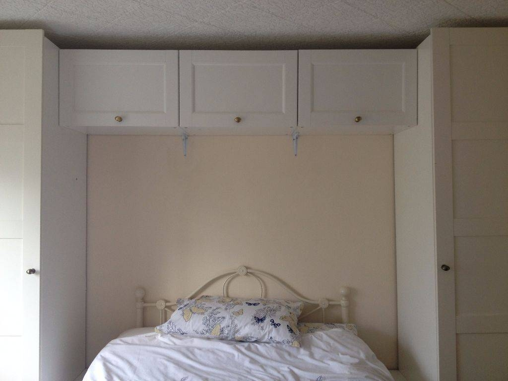 Ikea White Pax Over Bed Wardrobe And Cupboard Storage | In With Over Bed Wardrobes Units (View 9 of 15)