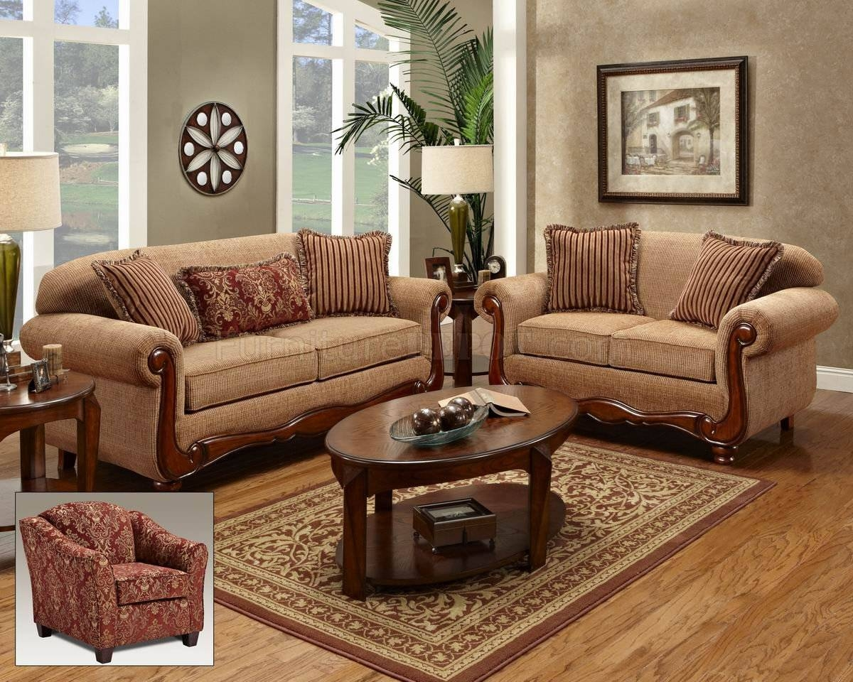 Image 1200X960 Beige Fabric Traditional Loveseat Sofa Set Woptions with Traditional Sofas and Chairs (Image 4 of 15)