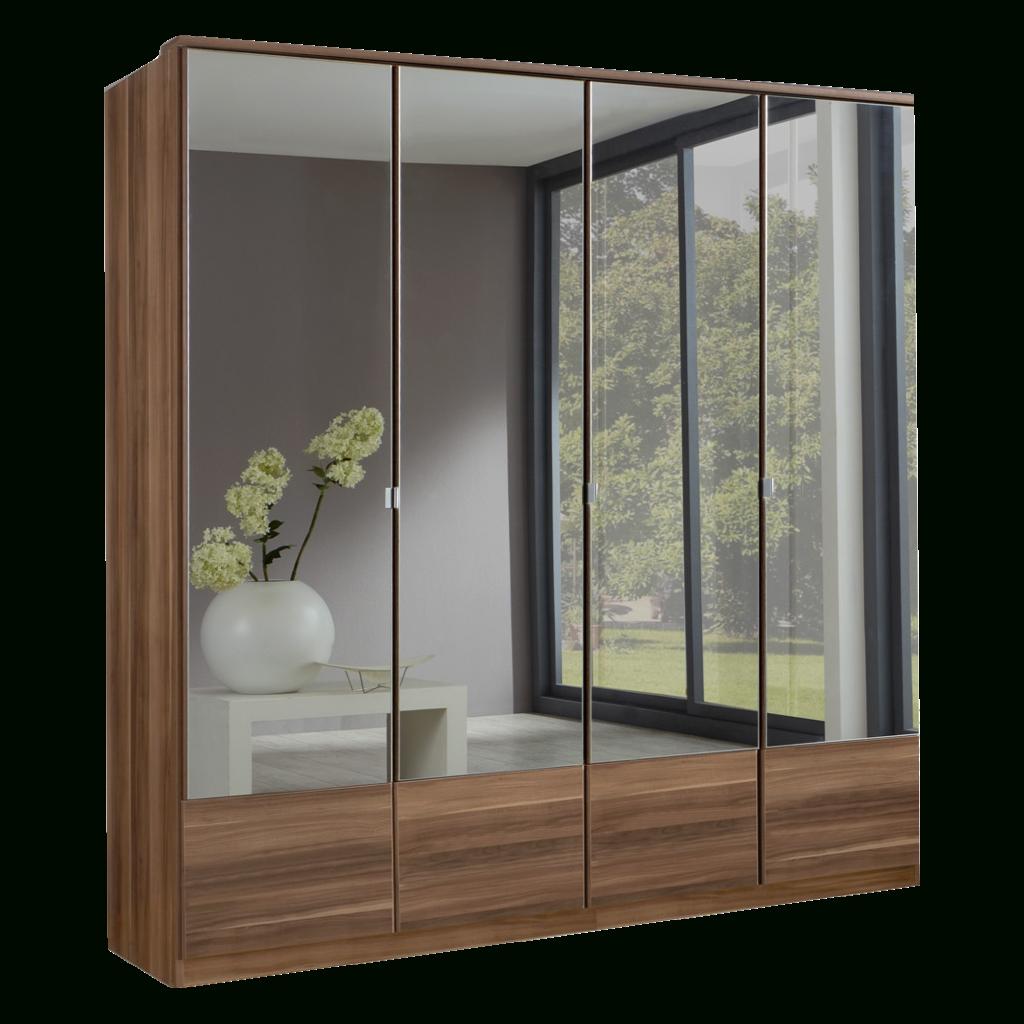 Imago Walnut 4 Door Mirrored Wardrobe | Sabba Furniture regarding 4 Door Mirrored Wardrobes (Image 10 of 15)