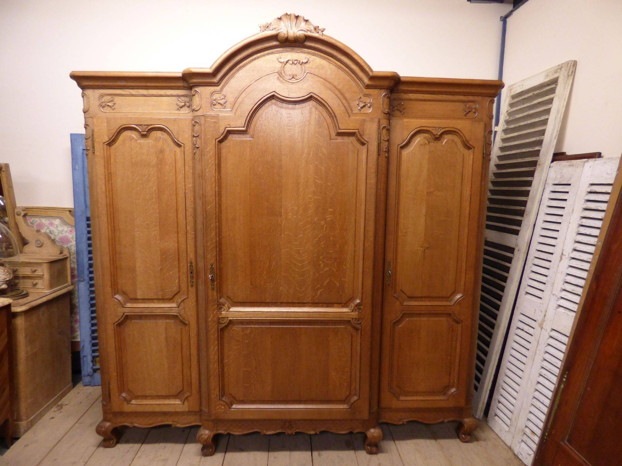 Impressive Antique French Armoire Wardrobe - G12 - The French Depot throughout French Armoires Wardrobes (Image 11 of 15)