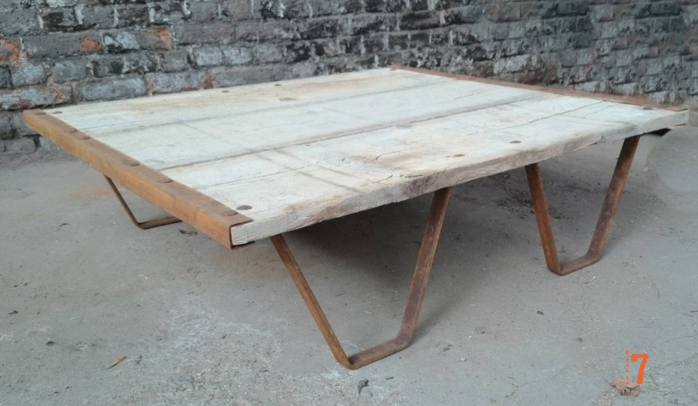 Industrial Furniture - Solid Wood Garden Coffee Table | Barak'7 regarding Wooden Garden Coffee Tables (Image 14 of 30)