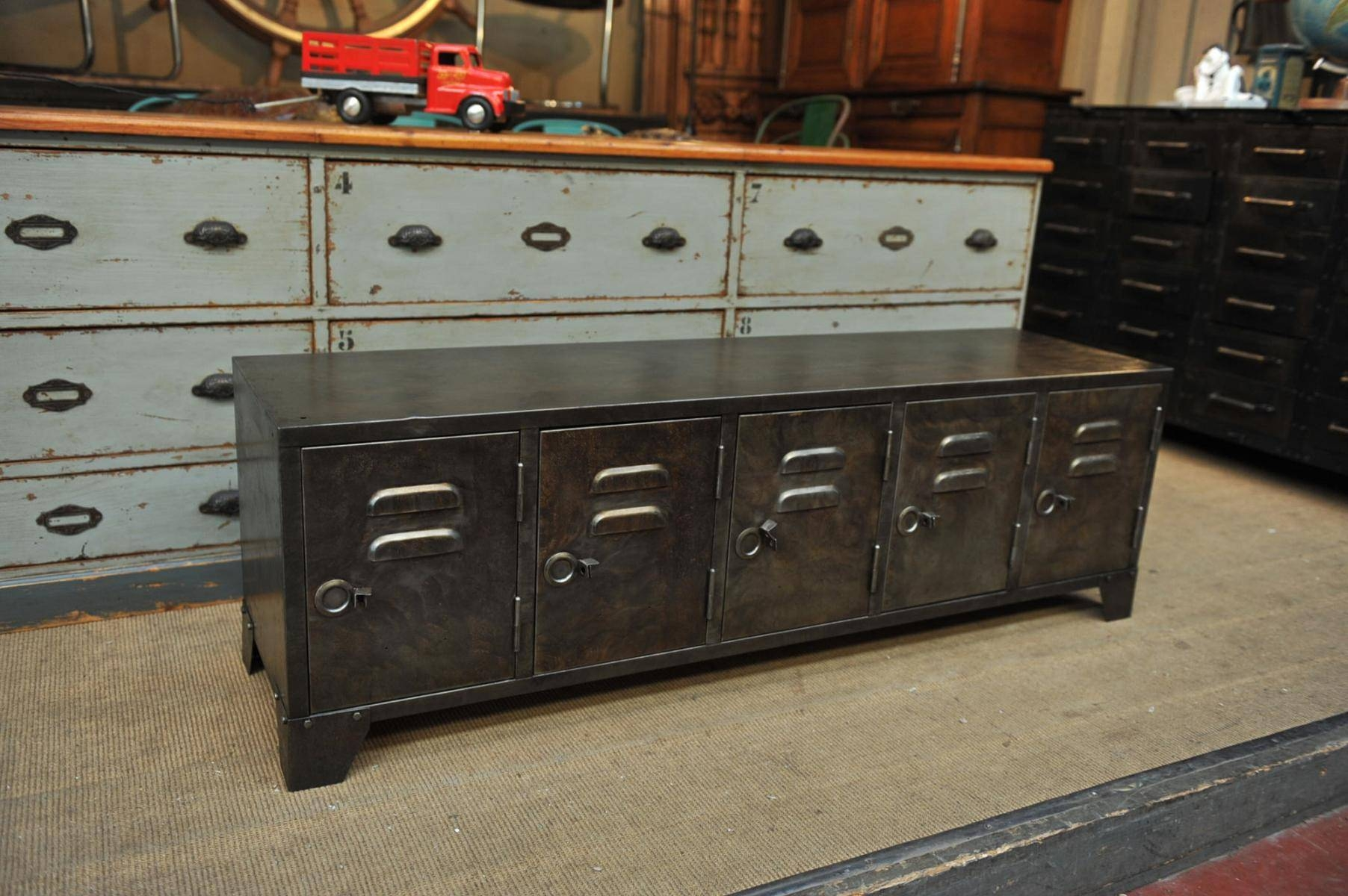 Industrial Metal Sideboard, 1950S For Sale At Pamono for Metal Sideboard Furniture (Image 18 of 30)