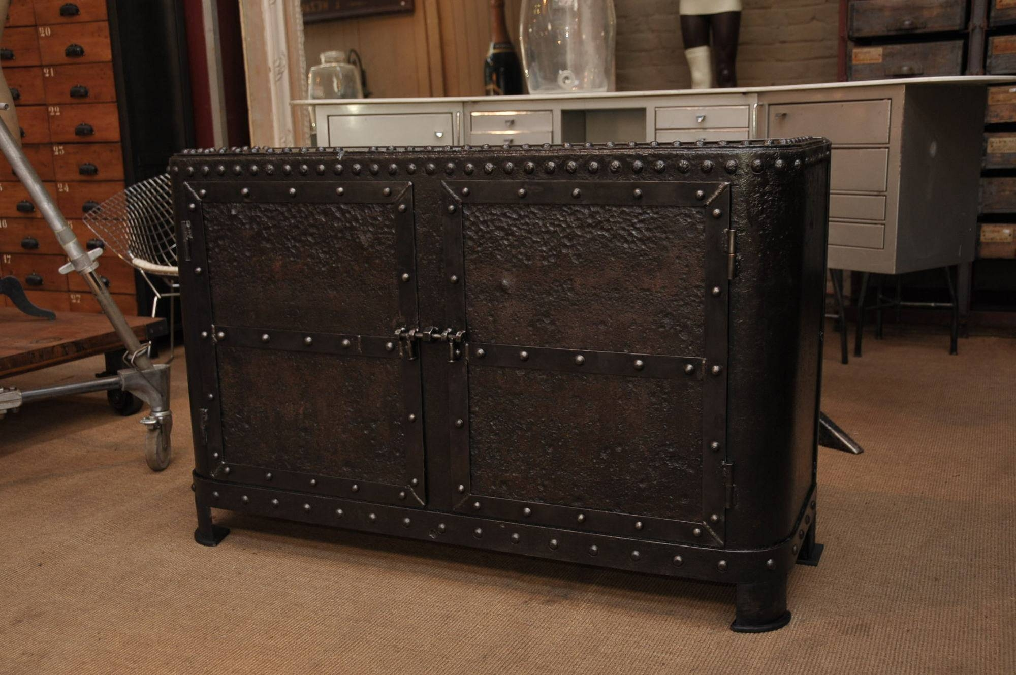 Industrial Metal Sideboard : Vintage Industrial Sideboard Pictures regarding Metal Sideboard Furniture (Image 16 of 30)