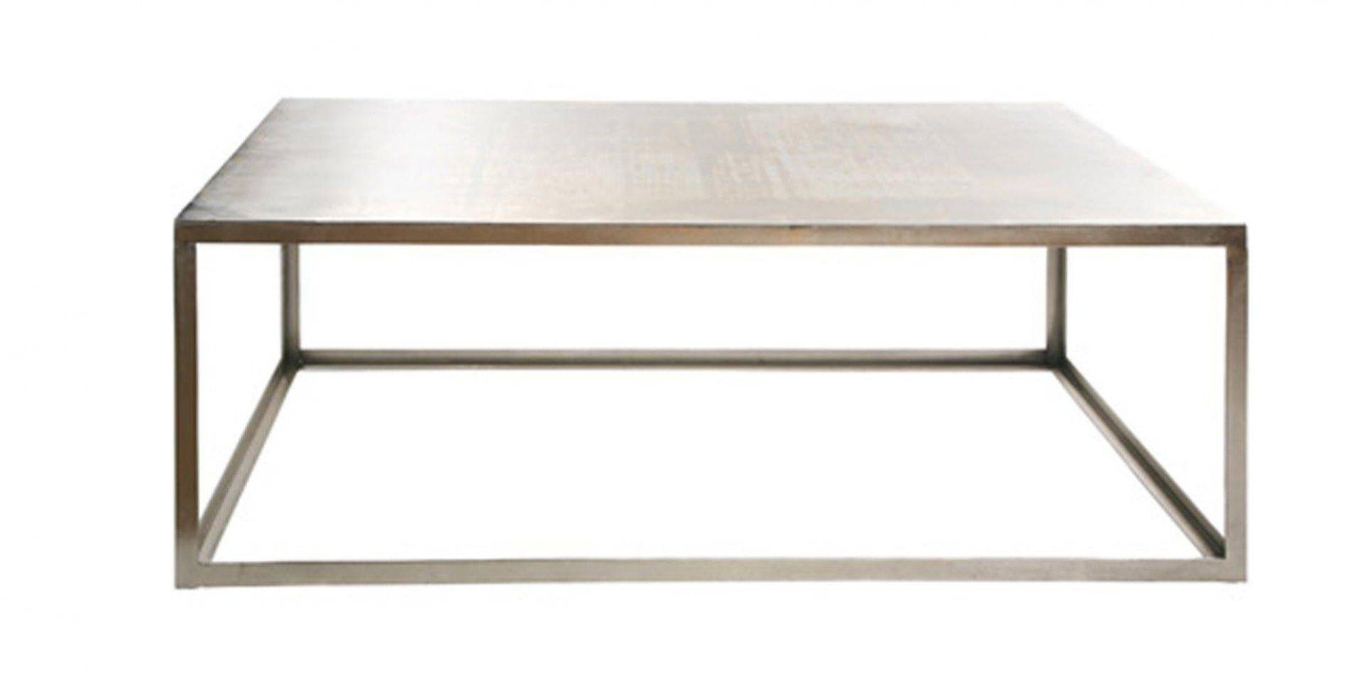 Industrial Style Coffee Table / Metal / Rectangular / Square pertaining to Coffee Table Industrial Style (Image 23 of 30)