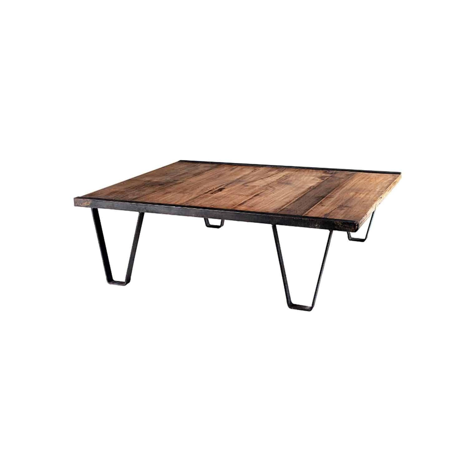Industrial Style Coffee Table / Wooden / Metal / Rectangular Pertaining To Coffee Table Industrial Style (View 10 of 30)