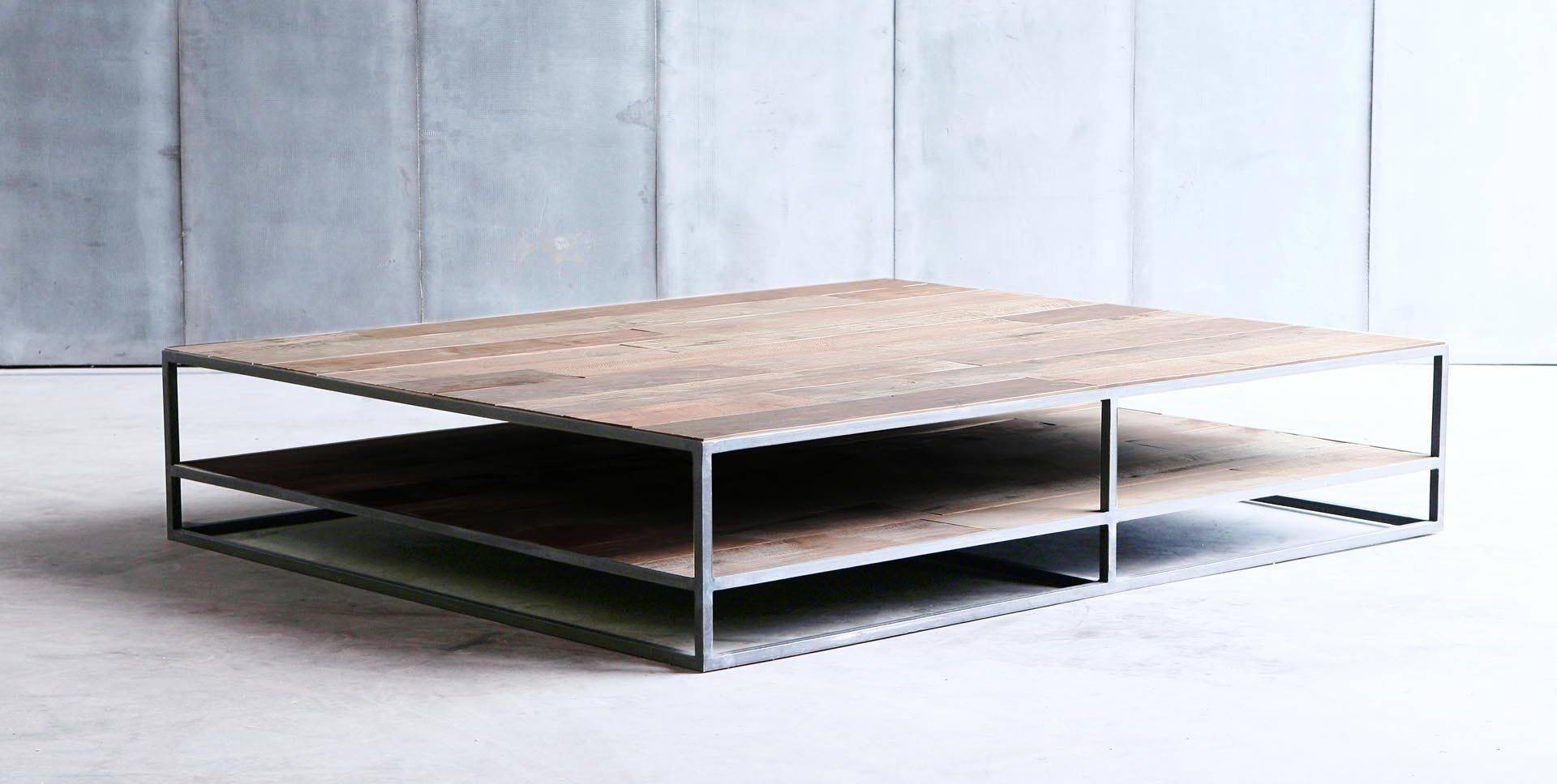 Industrial Style Coffee Table / Wooden / Metal / Square Regarding Coffee Table Industrial Style (View 20 of 30)