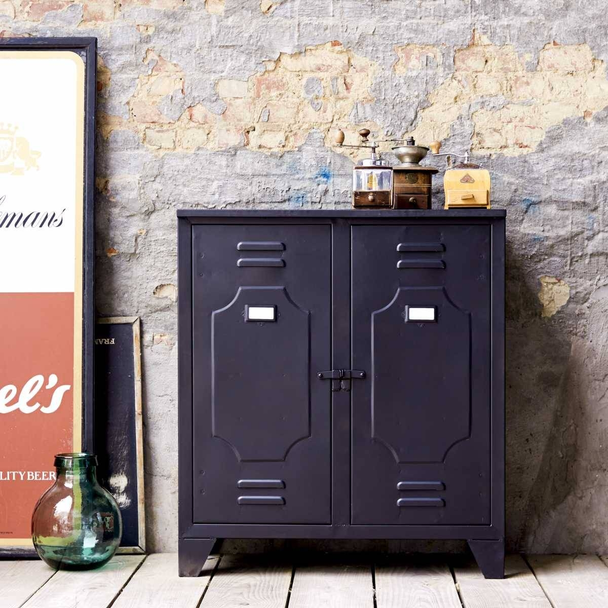 Industrial Style Metal Sideboards And Metallic Sideboards - Tikamoon with regard to Metal Sideboards (Image 18 of 30)