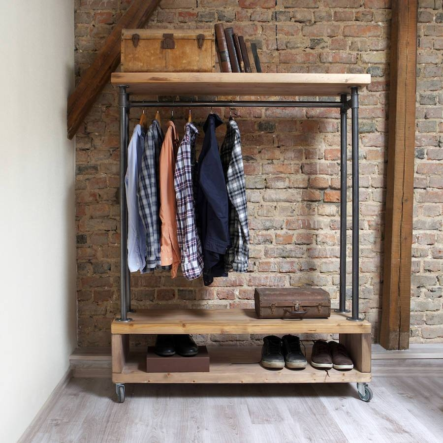 Industrial Style | Notonthehighstreet in Industrial Style Wardrobes (Image 9 of 15)