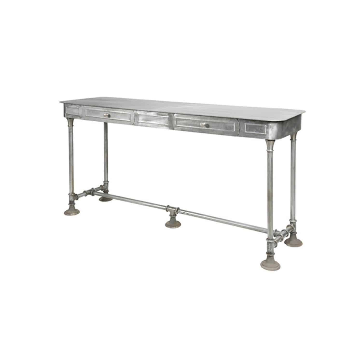 Industrial Style Sideboard Table / Brushed Metal / Rectangular within Metal Sideboard Furniture (Image 22 of 30)
