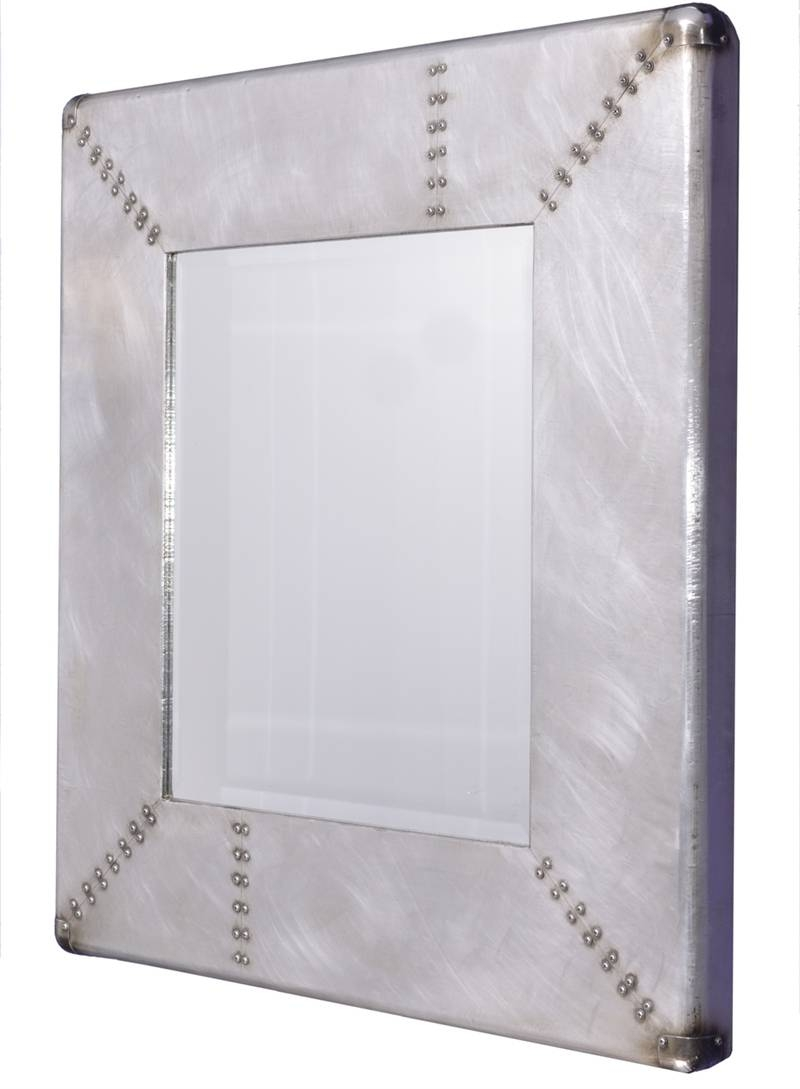 Industrial Style Square Metal Wall Mirror | Wall Mirrors with regard to Square Wall Mirrors (Image 13 of 25)