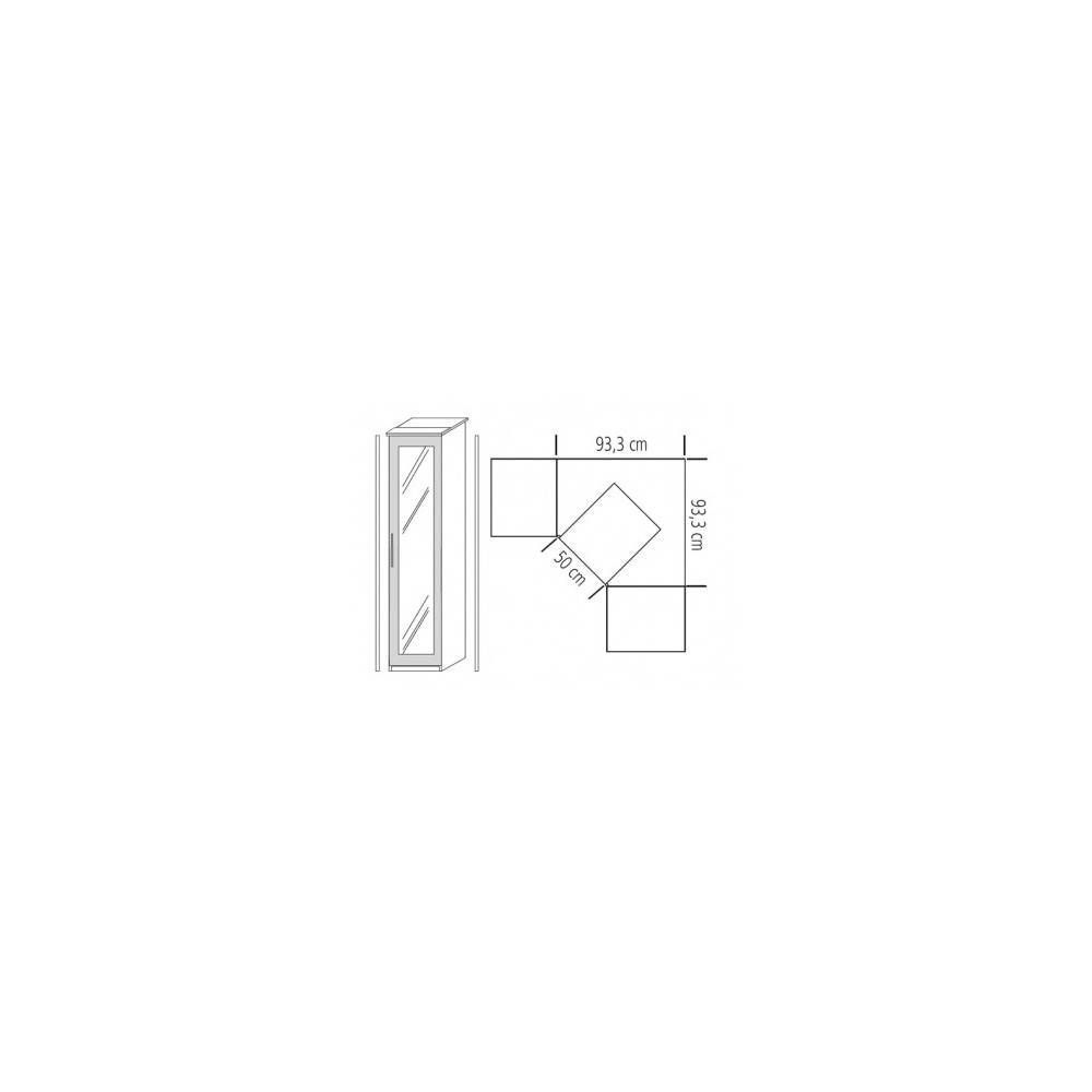 Infill 1 Door Corner Wardrobe With Sand Grey Gloss Polished Door Within 1 Door Corner Wardrobes (View 9 of 15)