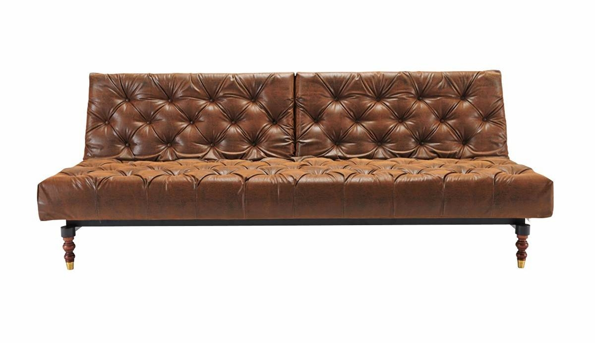 Innovation Old School Chesterfield Sofa 461-Vintage Leather Look intended for Chesterfield Recliners (Image 14 of 30)