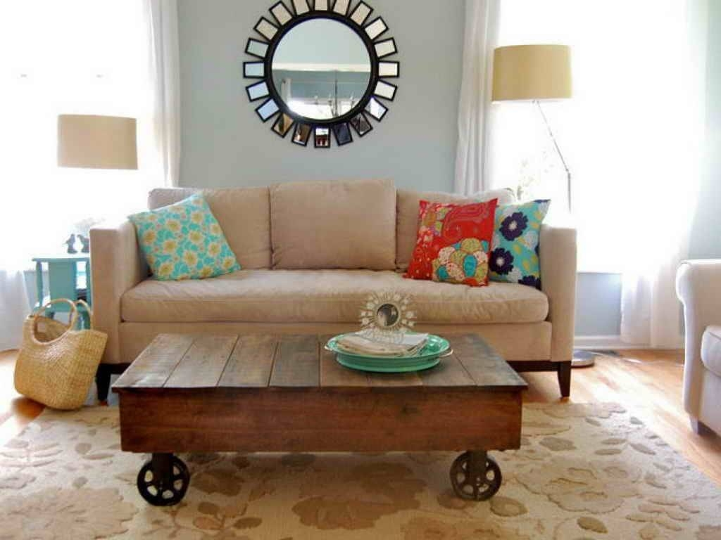 Inspirational Rustic Coffee Table With Wheels For Living Room for Wheels Coffee Tables (Image 16 of 30)