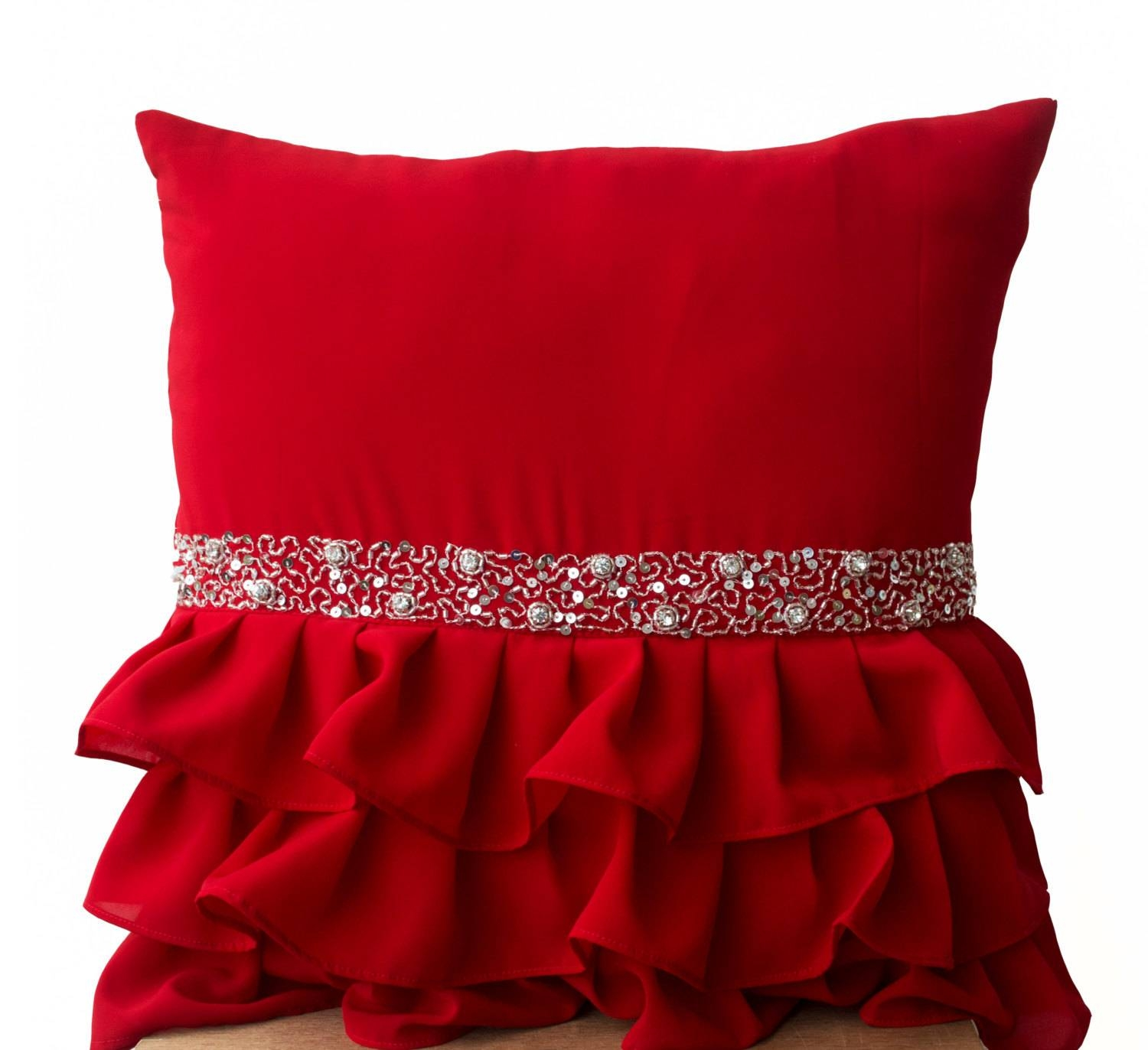 Inspirations: Beautiful Color Red Throw Pillows With Awsome intended for Oversized Sofa Pillows (Image 14 of 30)