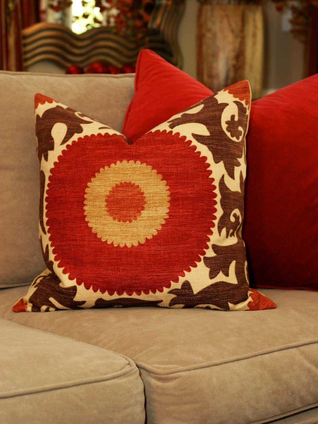 Inspirations: Decorative Throw Pillows For Sofa Red Throw Pillows For Red  Sofa Throws (Image