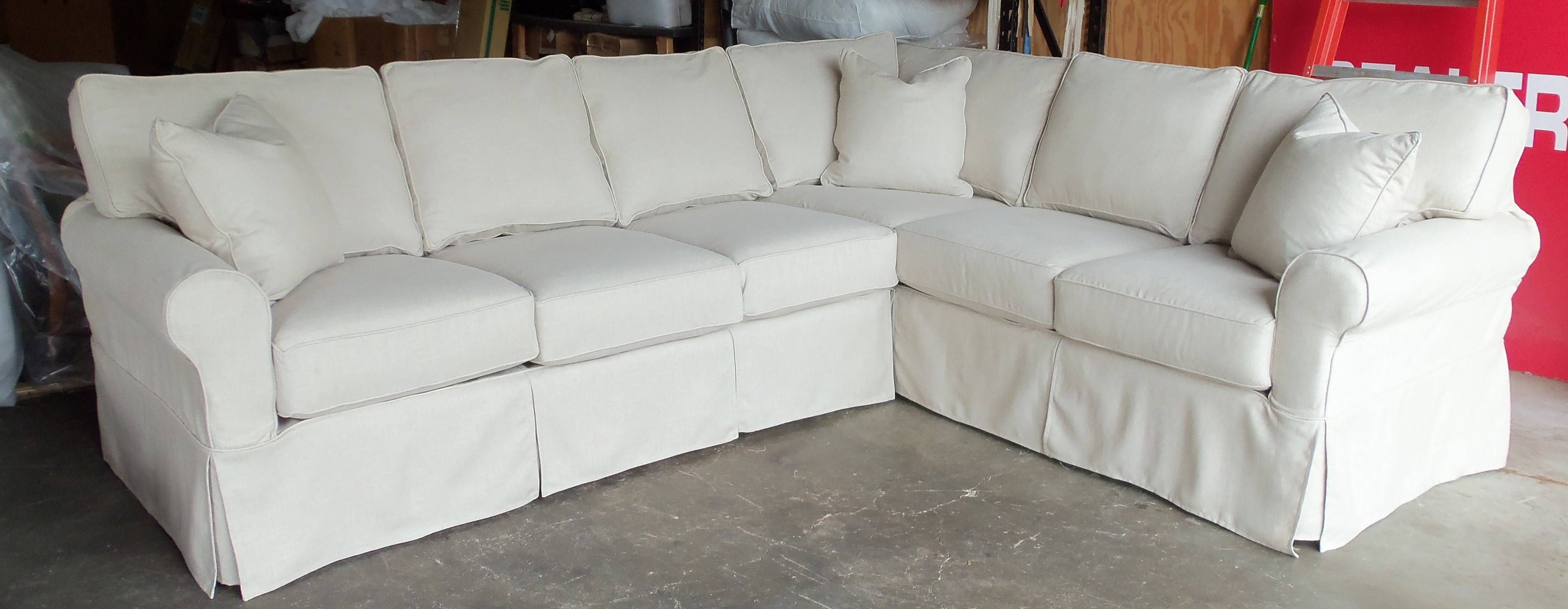 Inspirations: Interesting Furniture Sectional Sofa Slipcovers For pertaining to Slipcovers Sofas (Image 15 of 30)