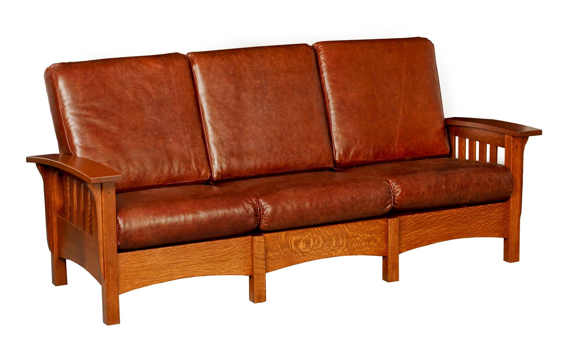 Inspirations Mission Style Sofa Leather With Sofas And Loveseats Regarding Sofas And Loveseats (View 11 of 30)