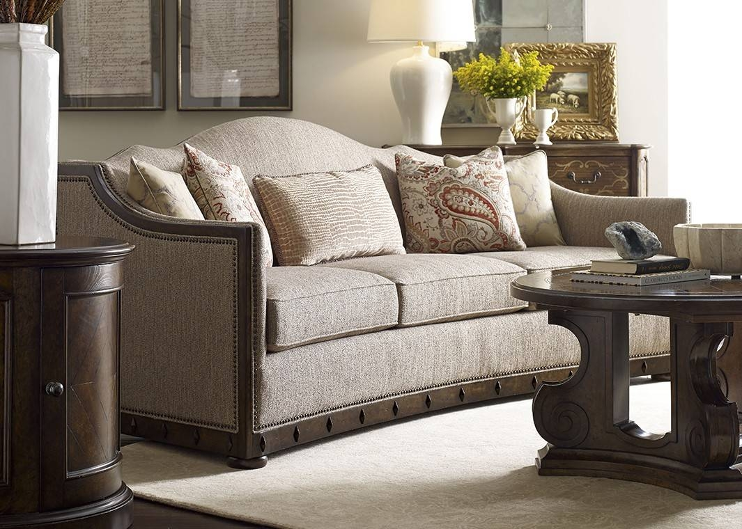 Inspired Traditional Fabric Sofa Canella Finish With Nailhead Trim regarding Traditional Fabric Sofas (Image 14 of 30)