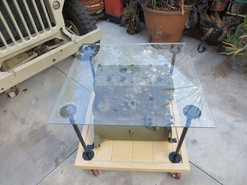 Inspiring Handmade Glass Table Tops Coffee Table With Square Shape intended for Square Shaped Coffee Tables (Image 14 of 30)