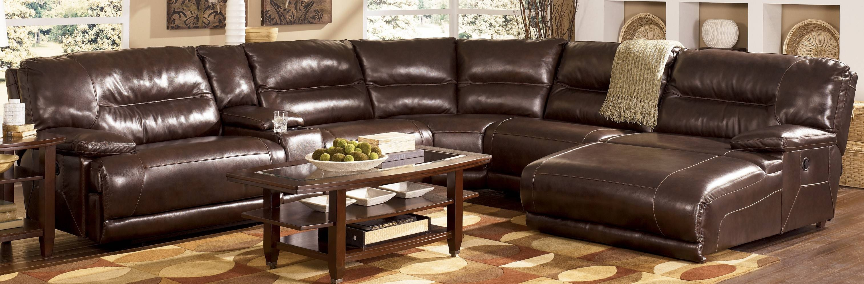 Inspiring Leather Sectional Sofas With Recliners And Chaise 23 For for Down Filled Sectional Sofas (Image 12 of 30)