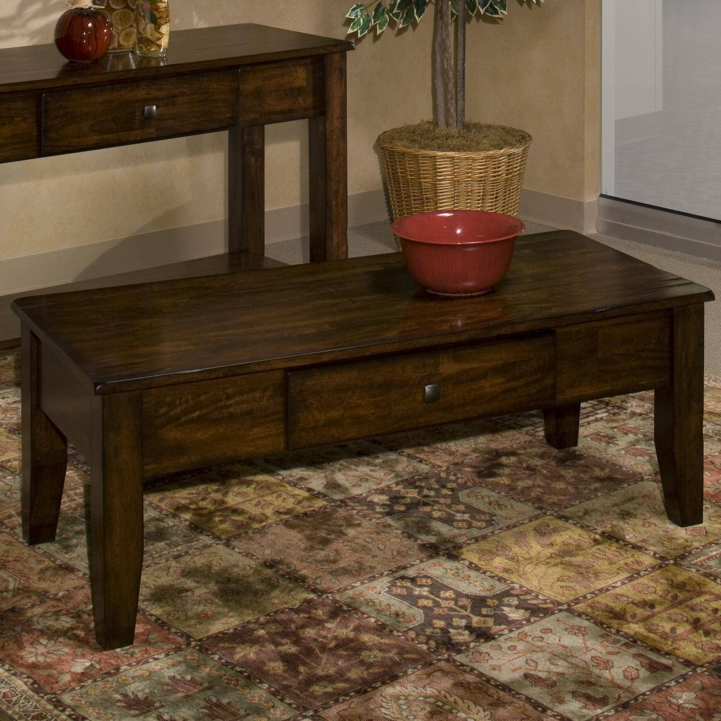 Intercon Kona Mango Wood Coffee Table - Wayside Furniture with regard to Mango Wood Coffee Tables (Image 11 of 30)