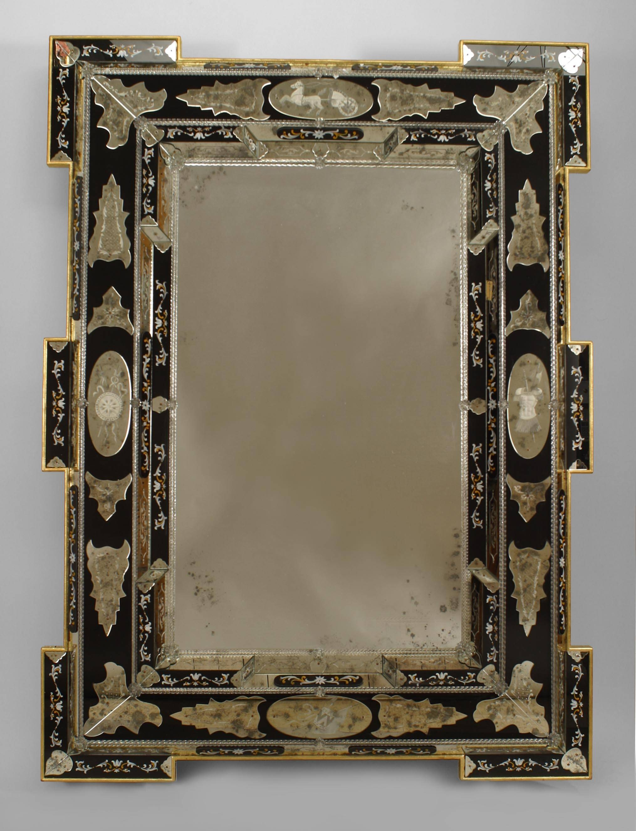 Interior: Antique Venetian Mirrors Oval Venetian Mirror Venetian within Modern Venetian Mirrors (Image 12 of 25)