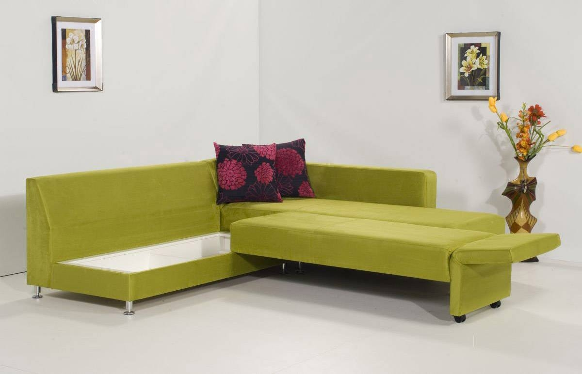 Interior: Appealing L Shaped Sleeper Sofa For Your Living Room within Green Sectional Sofa With Chaise (Image 14 of 30)