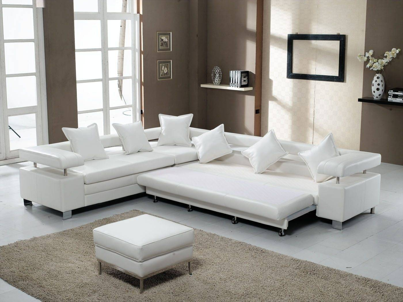 Interior: Best Collection White Sectional Sofa For Excellent with regard to Wide Sectional Sofa (Image 17 of 25)