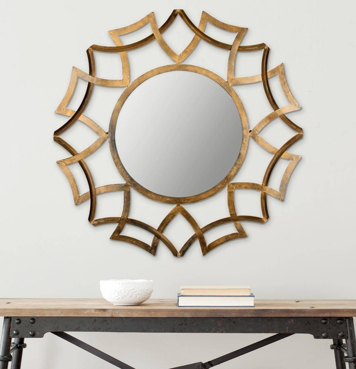 Interior & Decor: Starburst Mirror | Martha Stewart Sunburst inside Bronze Starburst Mirrors (Image 13 of 25)