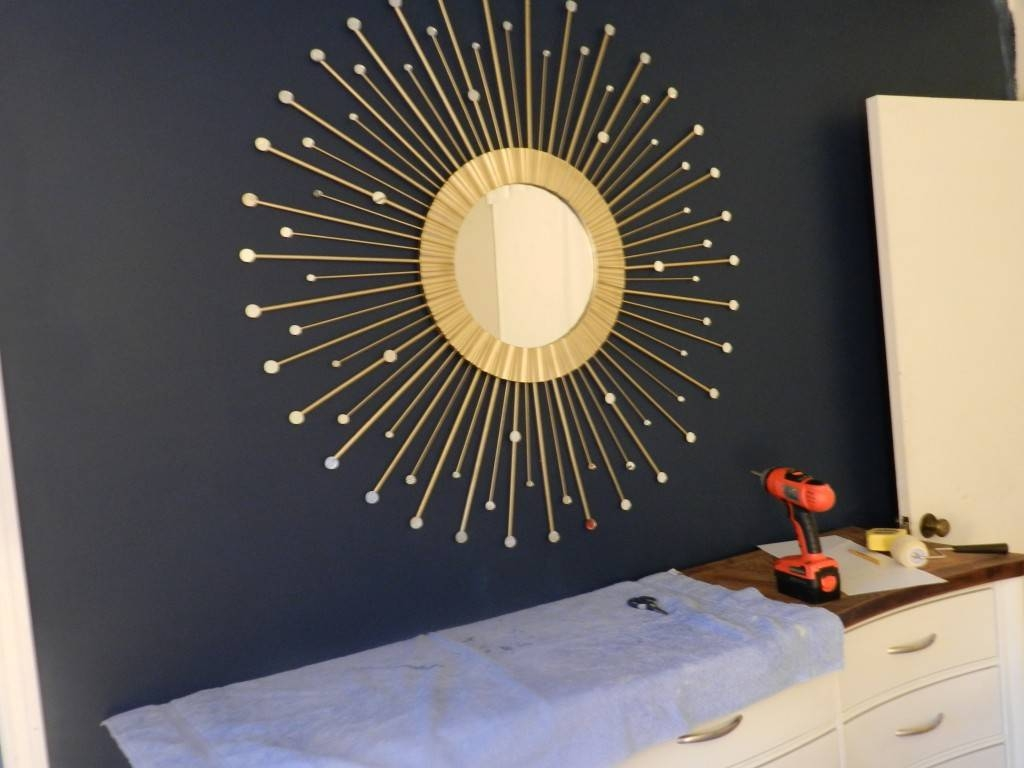 Interior & Decor: Starburst Mirror | Martha Stewart Sunburst with Large Sunburst Mirrors (Image 11 of 25)