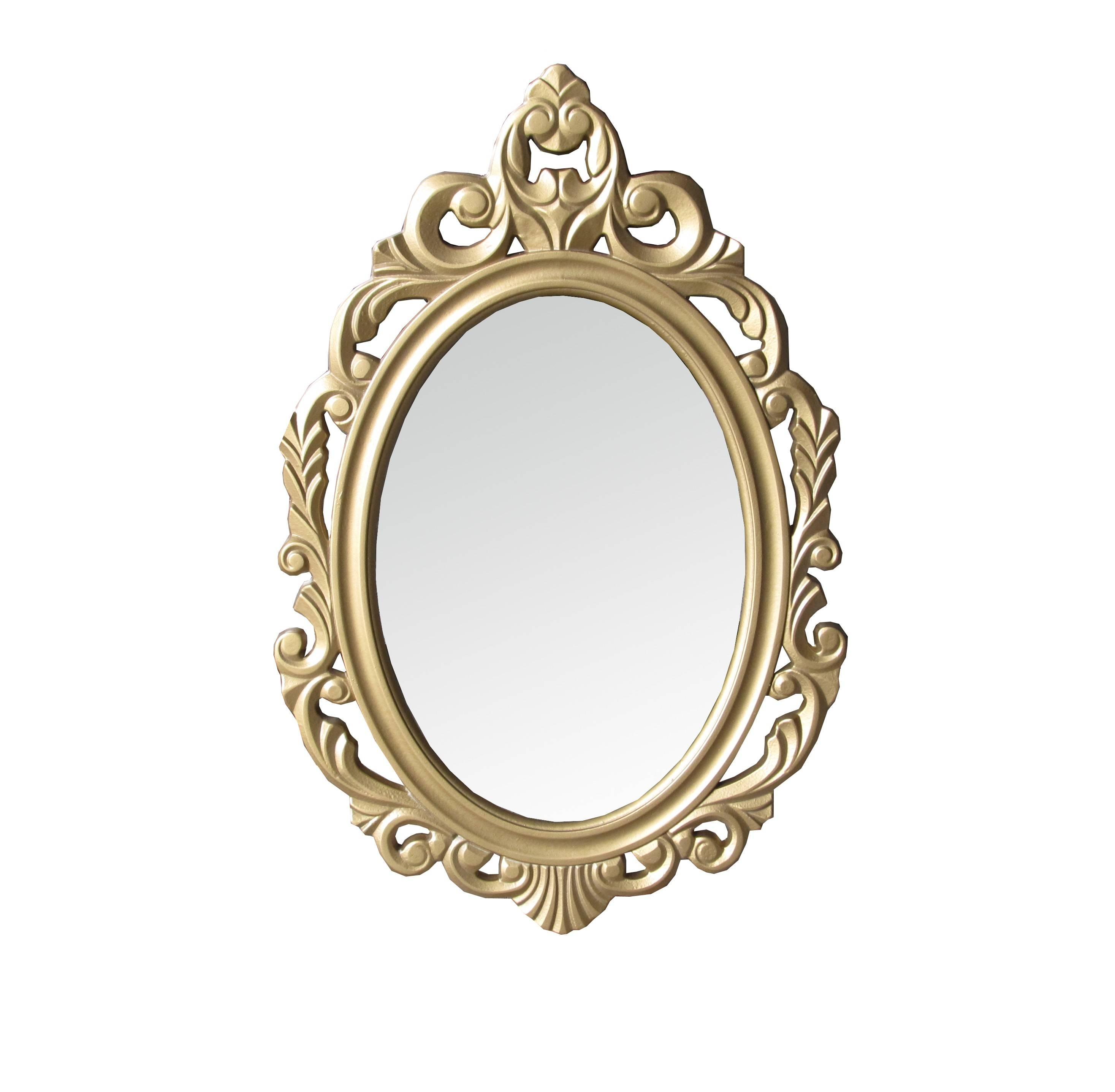 Interior & Decoration: Shabby Chic Ornate Gold Oval Wall Mirror pertaining to Ornate Oval Mirrors (Image 10 of 25)