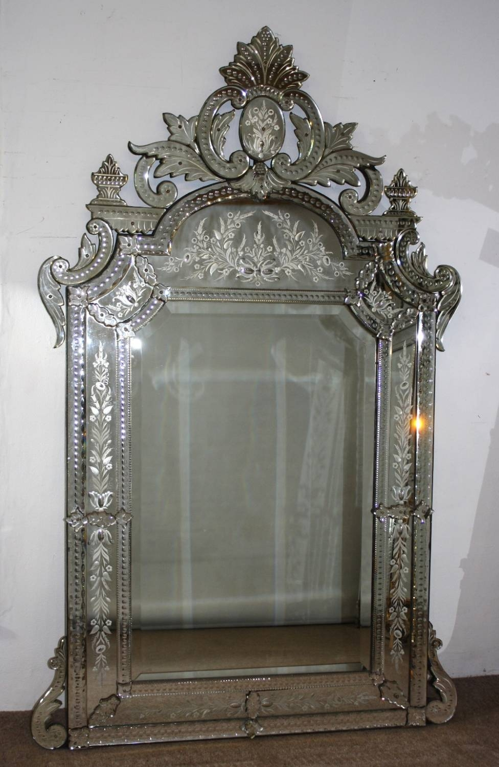 Interior: Framed Mirrors For Bathroom | Venetian Mirror | Leaning in Tall Venetian Mirrors (Image 4 of 25)