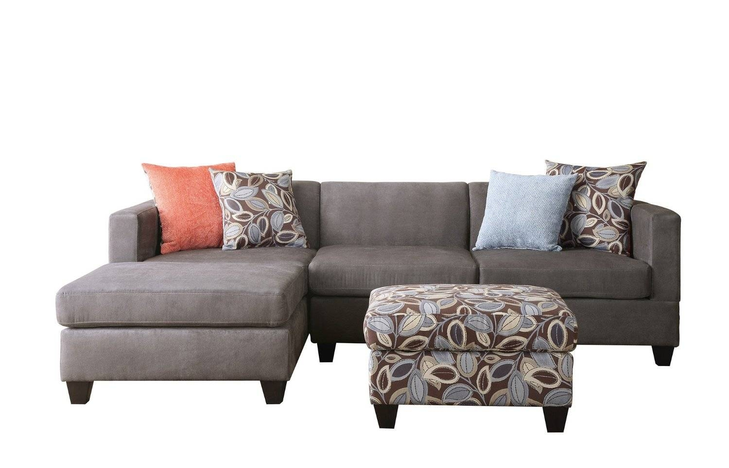 Interior: Gorgeous Lady Charcoal Sectional For Living Room for Small 2 Piece Sectional Sofas (Image 21 of 30)