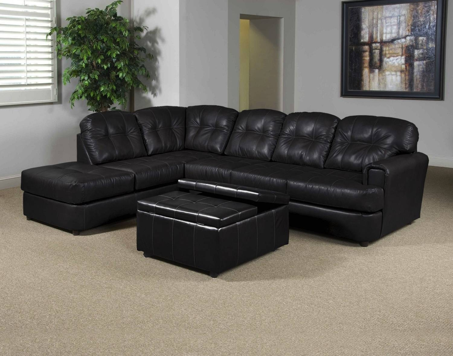 Interior: Gorgeous Lady Charcoal Sectional For Living Room pertaining to Sectional Sofa With Oversized Ottoman (Image 16 of 30)