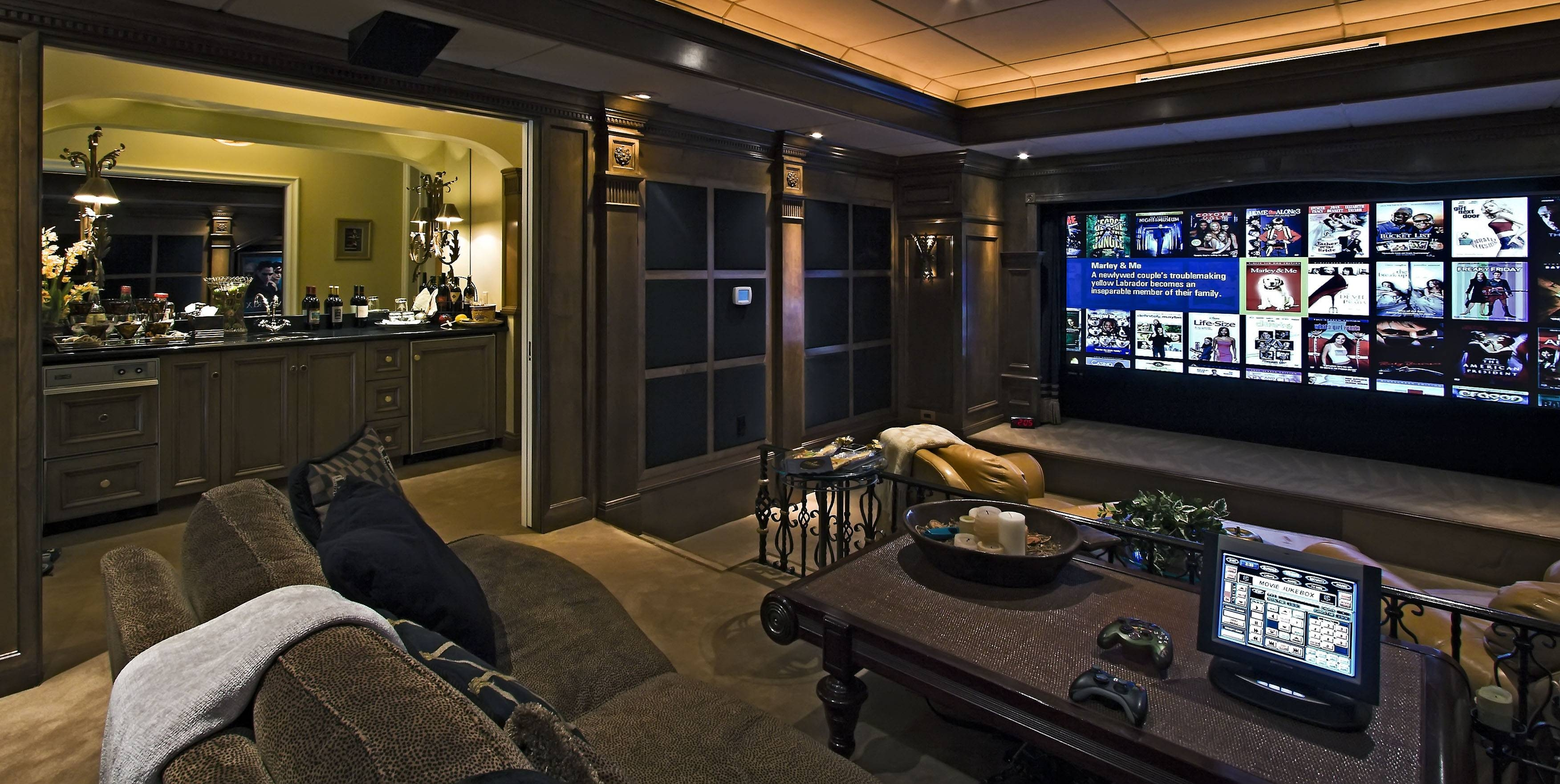 Interior : Great Looking Theater Room Design With Comfy Brown with regard to Theater Room Sofas (Image 17 of 30)