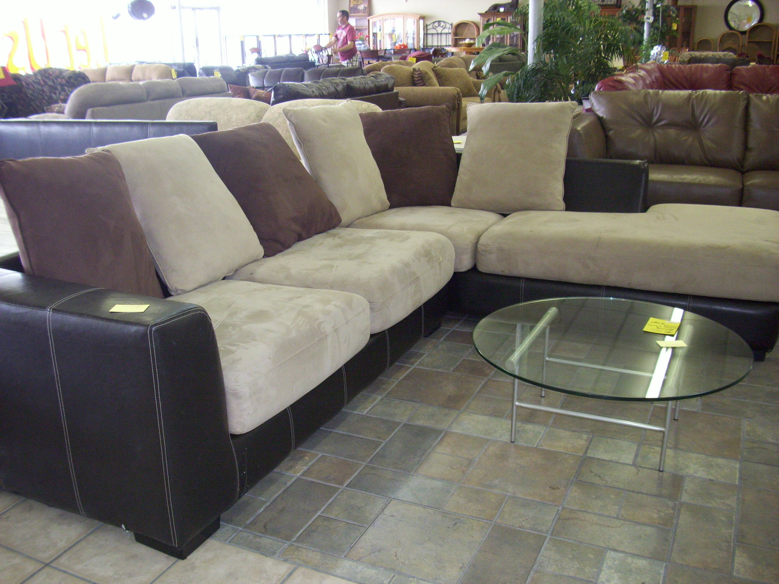 Interior: Impressive Microsuede Sectional Collections Sets For in Leather And Suede Sectional Sofa (Image 13 of 25)
