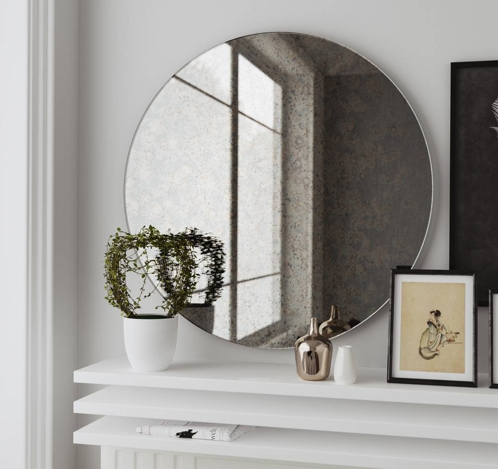 Interior: Mesmerizing Frameless Full Length Mirror For Home for Large Frameless Wall Mirrors (Image 9 of 25)