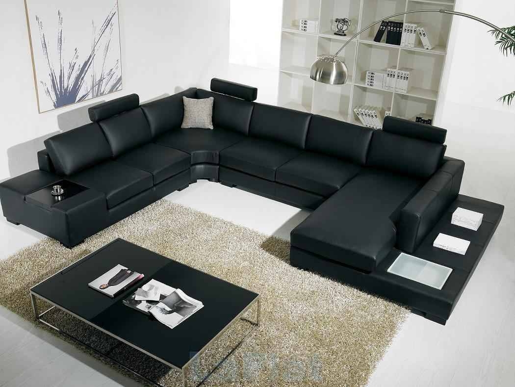 Interior: Stunning Micro Cheap Leather Sectionals For Living Room for Discounted Sectional Sofa (Image 22 of 30)