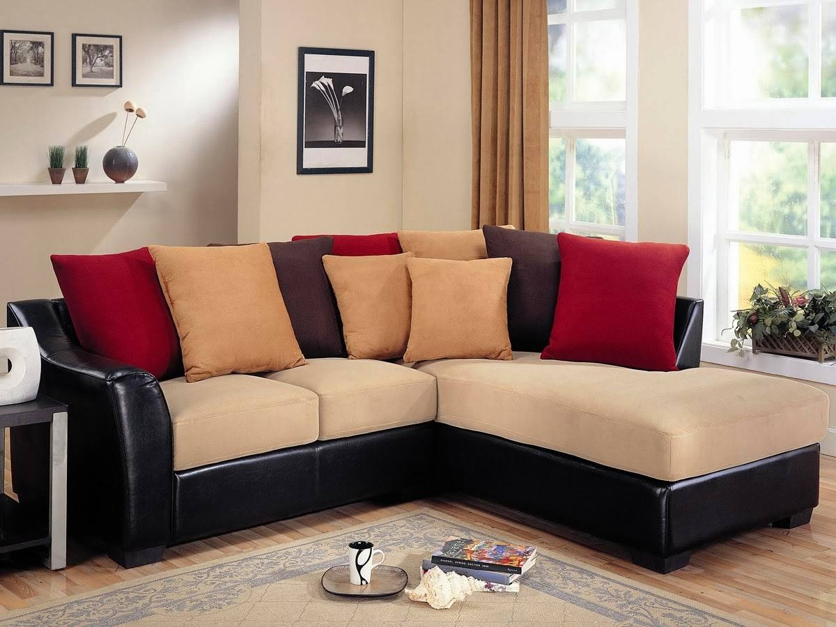 Interior: Stunning Micro Cheap Leather Sectionals For Living Room in Black Sectional Sofa For Cheap (Image 11 of 30)