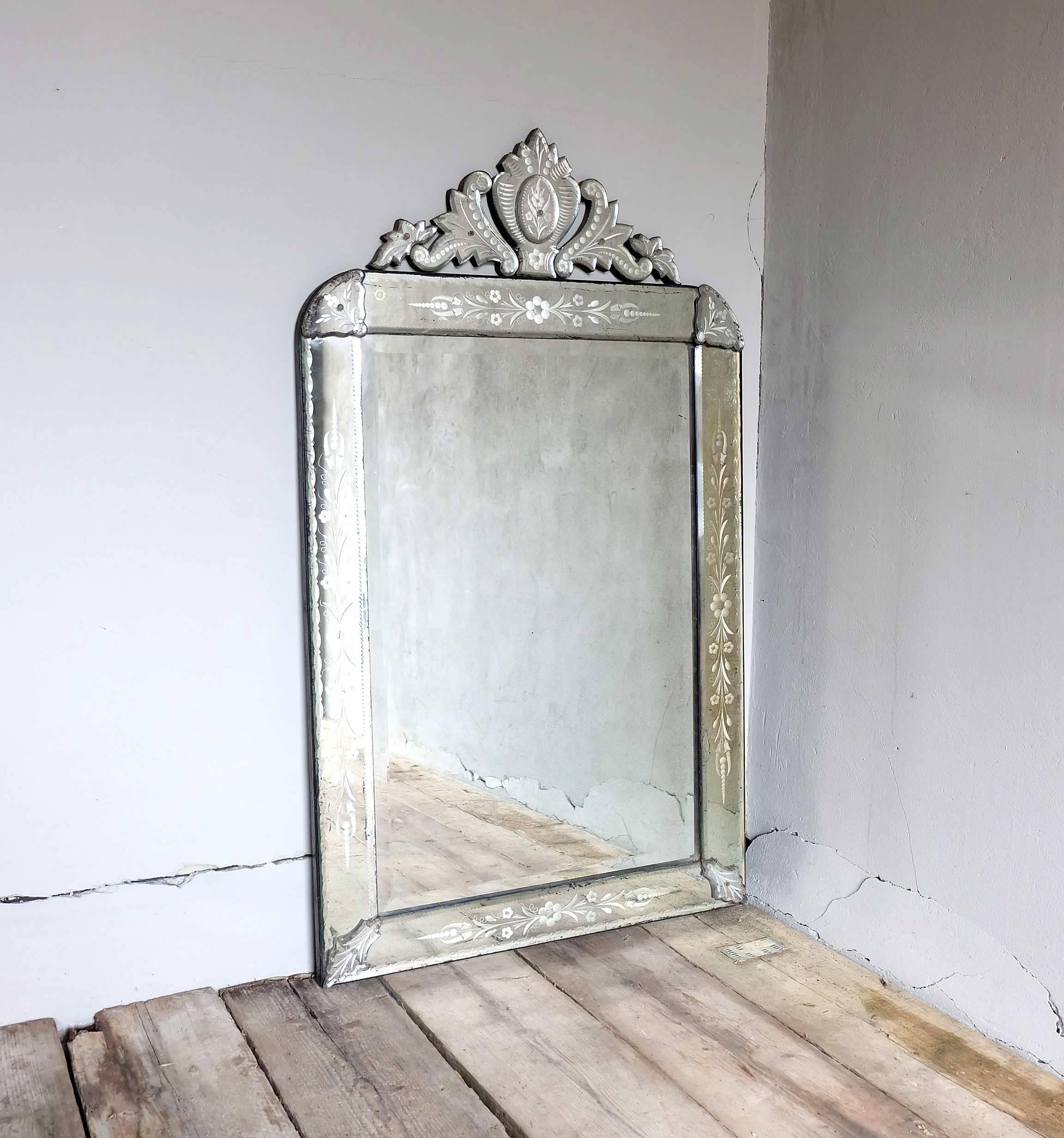 Interior: Venetian Mirror | Tall Venetian Mirror | Beveled Mirrors in Tall Venetian Mirrors (Image 7 of 25)