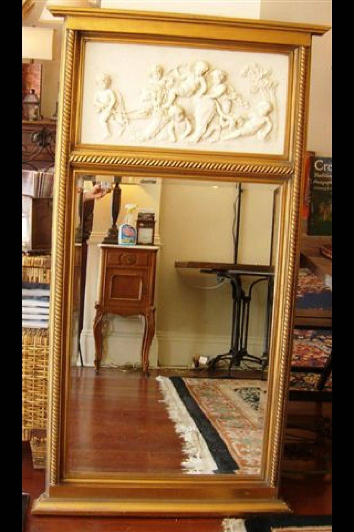 Interior: Vintage Trumeau Mirror For Home Interiors — Nadabike within Venetian Style Wall Mirrors (Image 7 of 25)