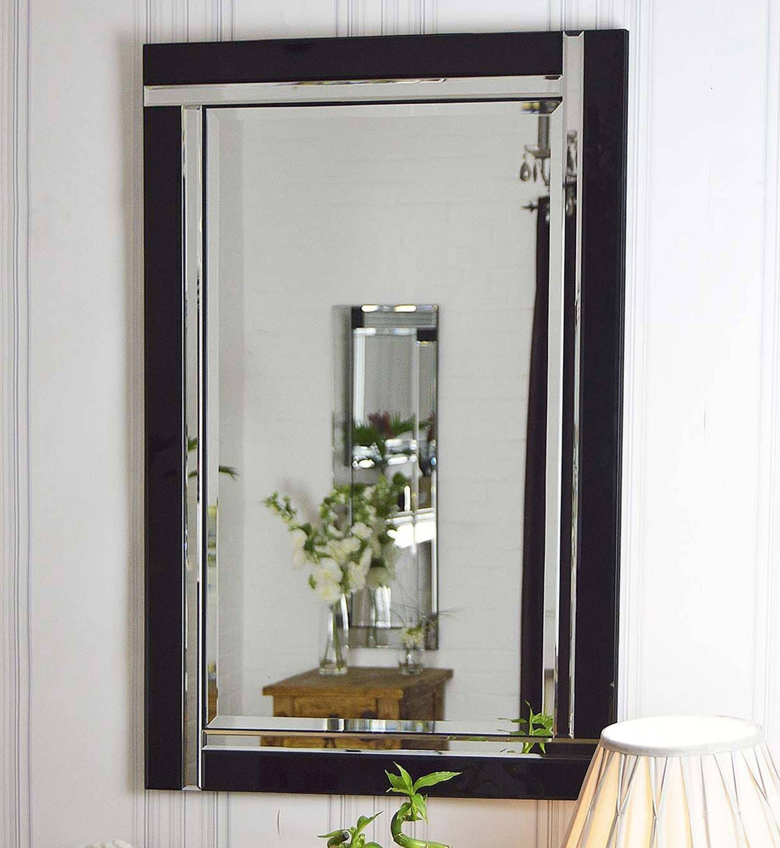 Interior: Vintage Venetian Mirror For Classic Interior Decor Intended For Black Bevelled Mirrors (View 5 of 13)