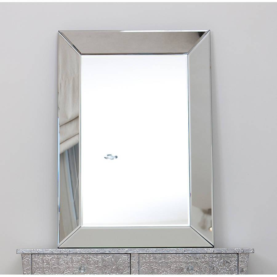 Interior: Vintage Venetian Mirror For Classic Interior Decor Intended For Large Glass Bevelled Wall Mirrors (View 11 of 25)