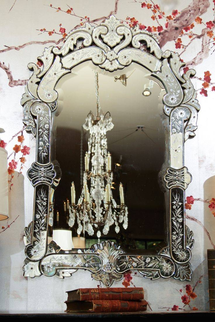 Interior: Vintage Venetian Mirror For Classic Interior Decor within Venetian Bathroom Mirrors (Image 17 of 25)