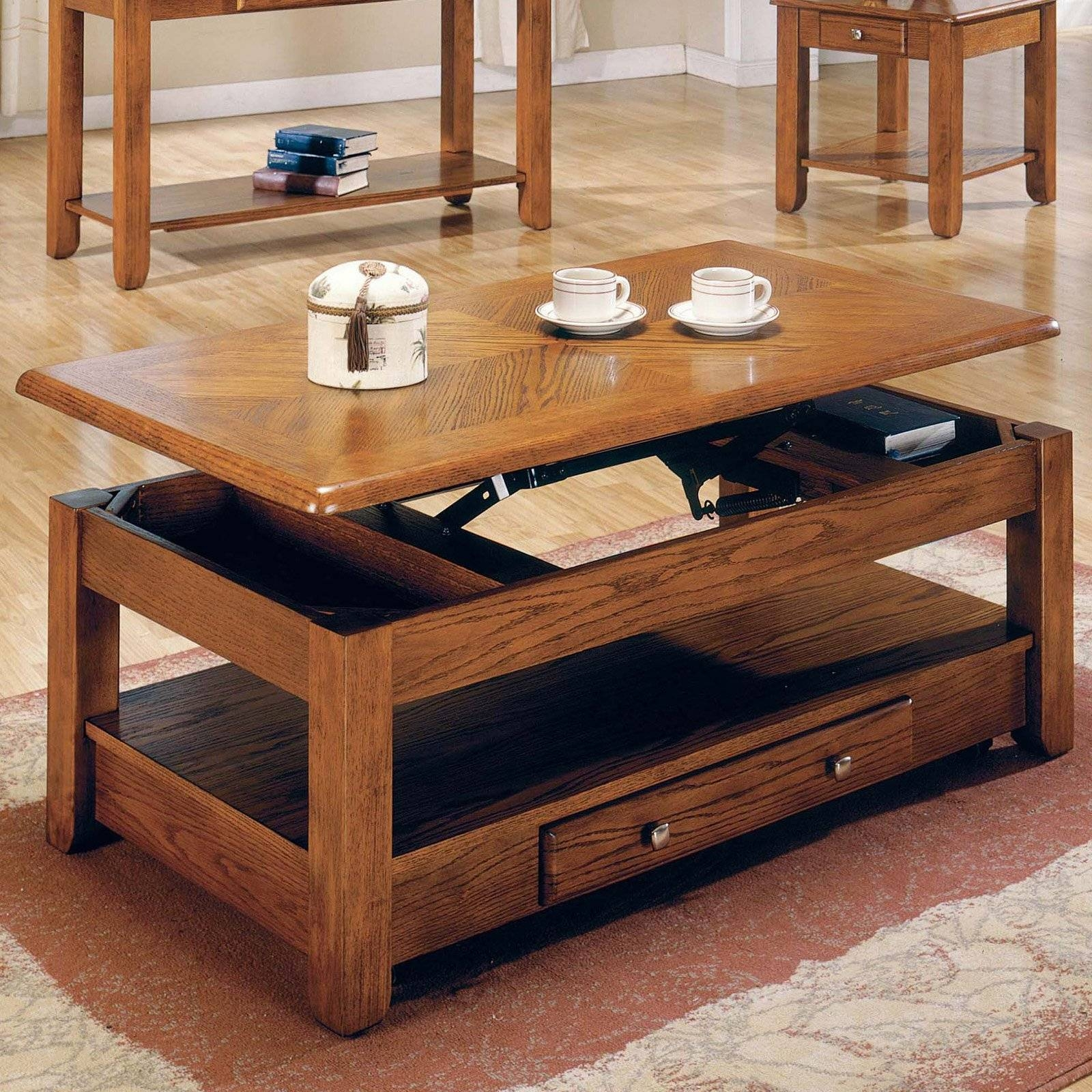 International Concepts Mission Solid Wood Lift Top Coffee Table in Coffee Tables Top Lifts Up (Image 13 of 30)